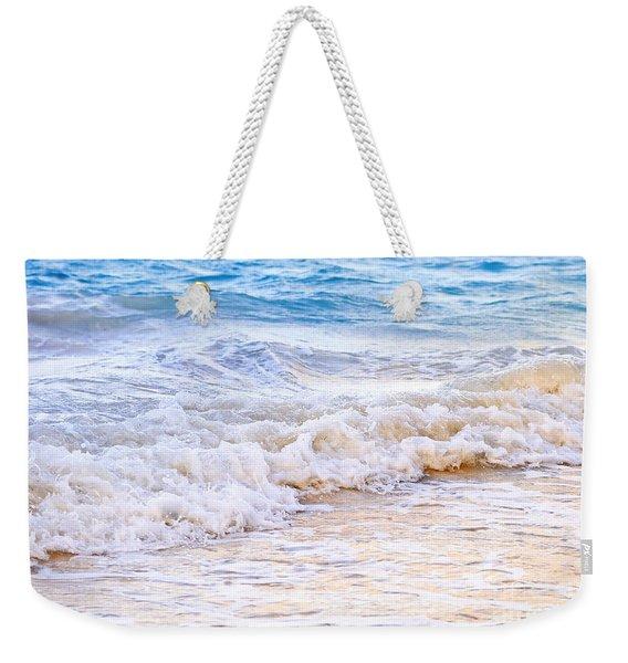 Waves Breaking On Tropical Shore Weekender Tote Bag