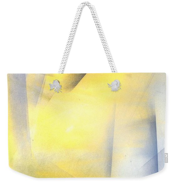 Raise The Bar - Grey And Yellow Abstract Art Painting Weekender Tote Bag