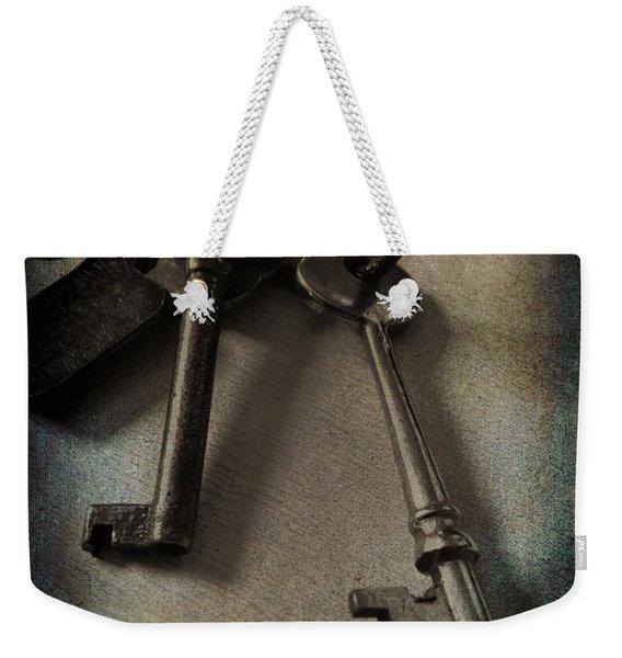 Vintage Keys Vignette Weekender Tote Bag