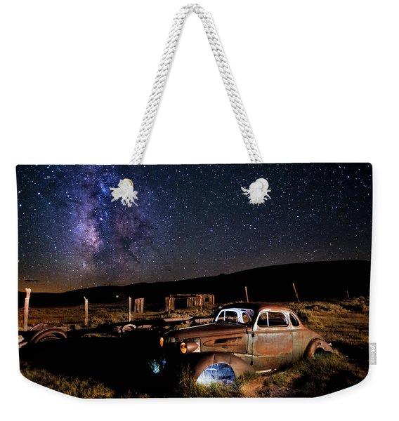'37 Chevy And Milky Way Weekender Tote Bag