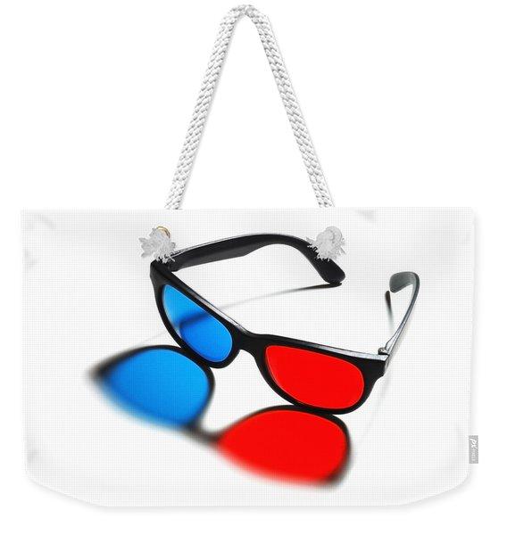 3d Glasses Weekender Tote Bag