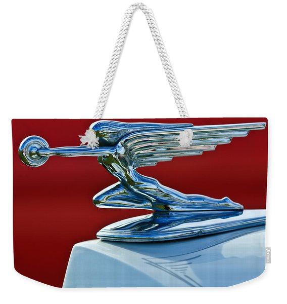 1936 Packard Hood Ornament Weekender Tote Bag