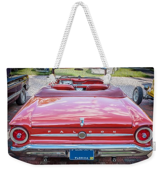 1963 Ford Falcon Sprint Convertible  Weekender Tote Bag