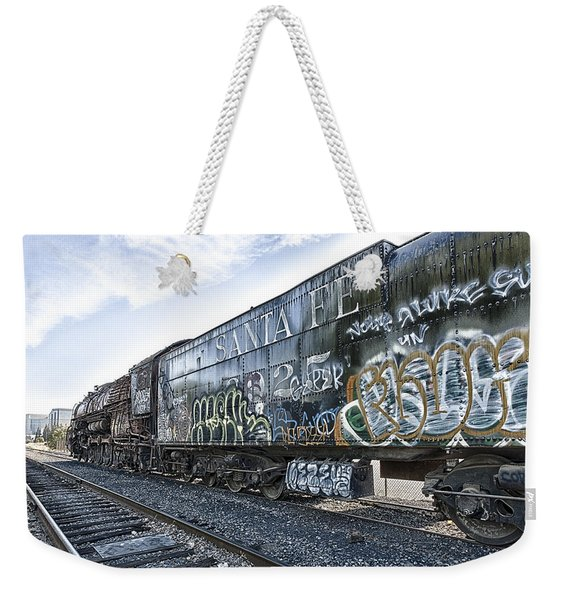 Weekender Tote Bag featuring the photograph 4 8 4 Atsf 2925 In Repose by Jim Thompson