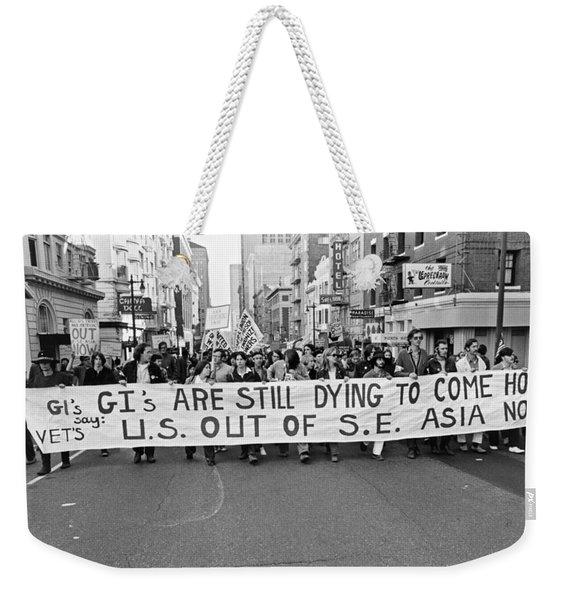 Anti Vietnam War Demonstration Weekender Tote Bag