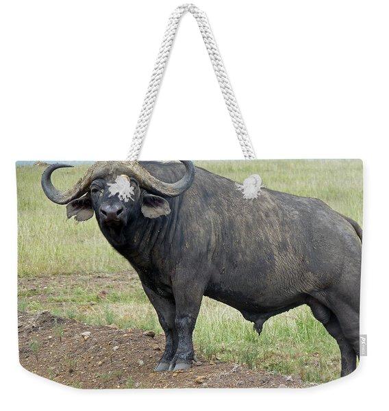 Cape Buffalo Weekender Tote Bag