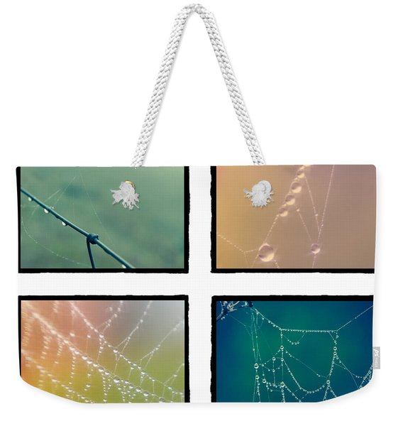 4 Color Web Droplets Weekender Tote Bag