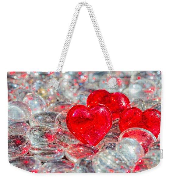 Crystal Heart Weekender Tote Bag
