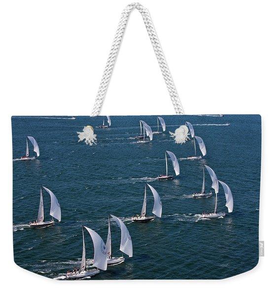 Sailboats In Swan Nyyc Invitational Weekender Tote Bag