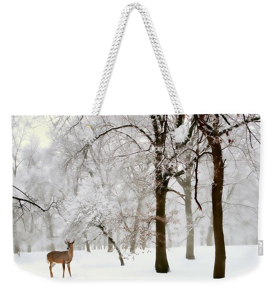 Winter's Breath Weekender Tote Bag