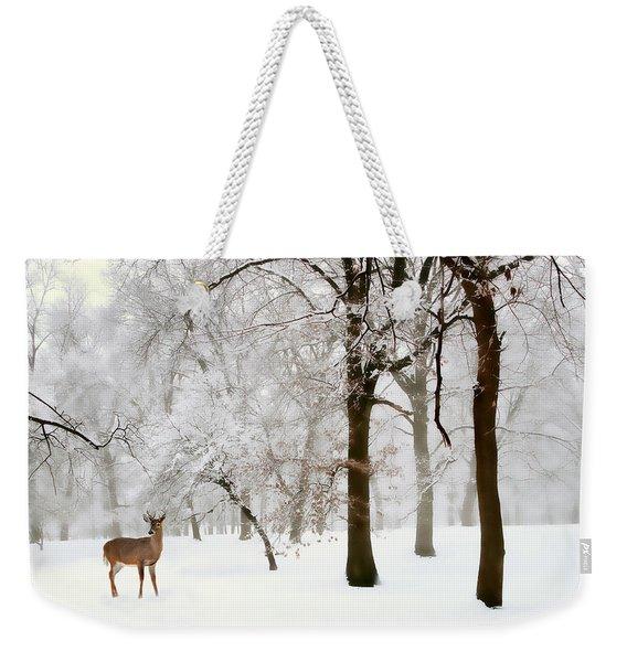 Winter's Breath Weekender Tote Bag