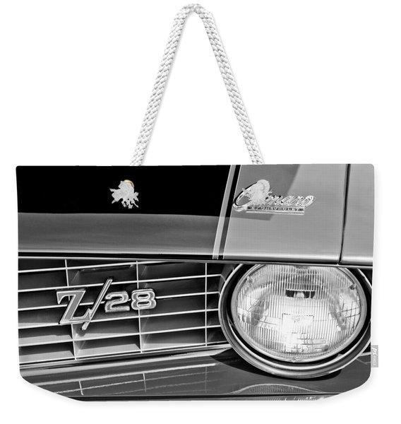 1969 Chevrolet Camaro Z 28 Grille Emblem Weekender Tote Bag