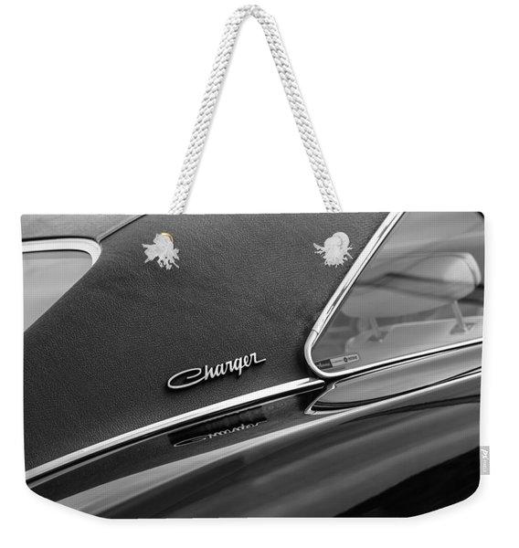 1969 Dodge Charger R-t Side Emblem Weekender Tote Bag