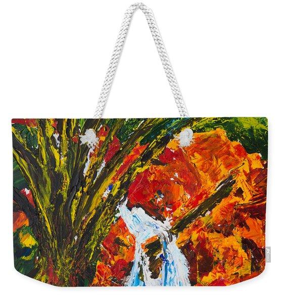 Burch Creek Waterfall Weekender Tote Bag