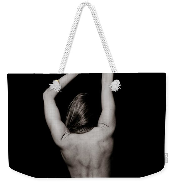 Classic Black And White Art Of A Woman's Back And Arms  Weekender Tote Bag