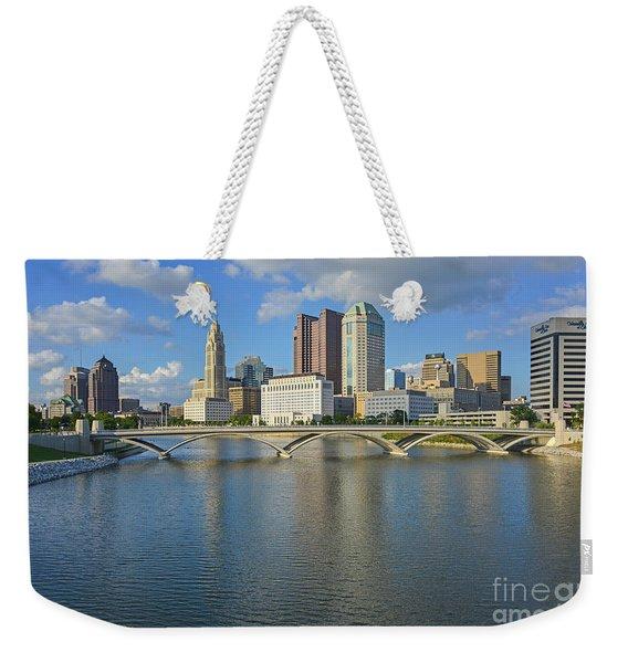 Fx1l-802 Columbus Ohio Skyline Photo Weekender Tote Bag