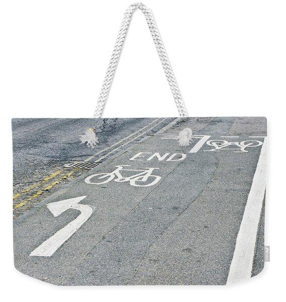 Cycle Path Weekender Tote Bag