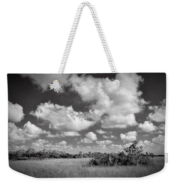 Everglades Landscapebw-5 Weekender Tote Bag