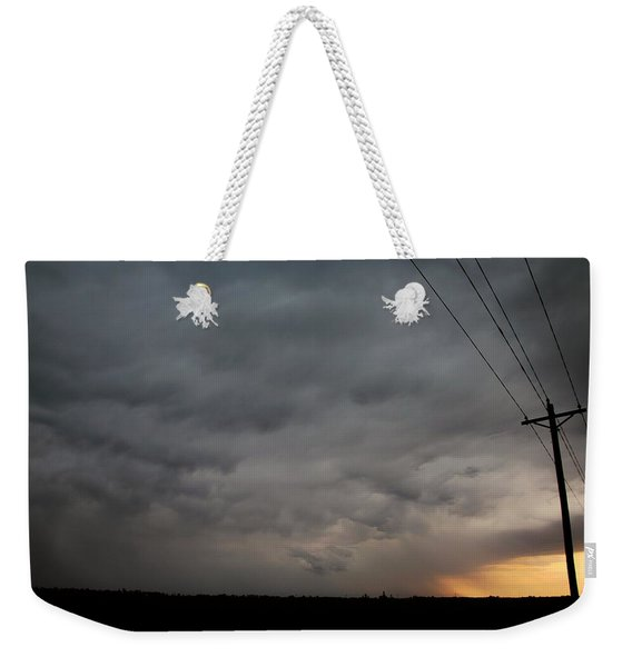 Weekender Tote Bag featuring the photograph Let The Storm Season Begin by NebraskaSC