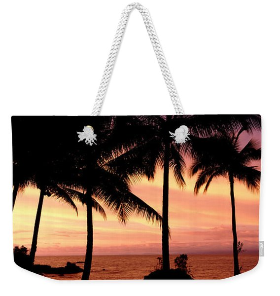 Palm Trees On The Coast, Colombia Weekender Tote Bag
