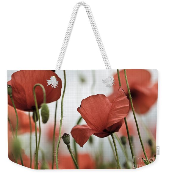 Red Poppy Flowers Weekender Tote Bag
