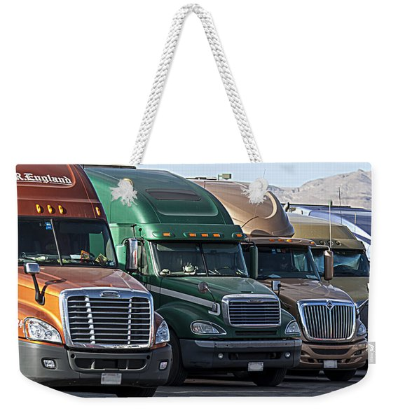 Semi Truck Fleet Weekender Tote Bag