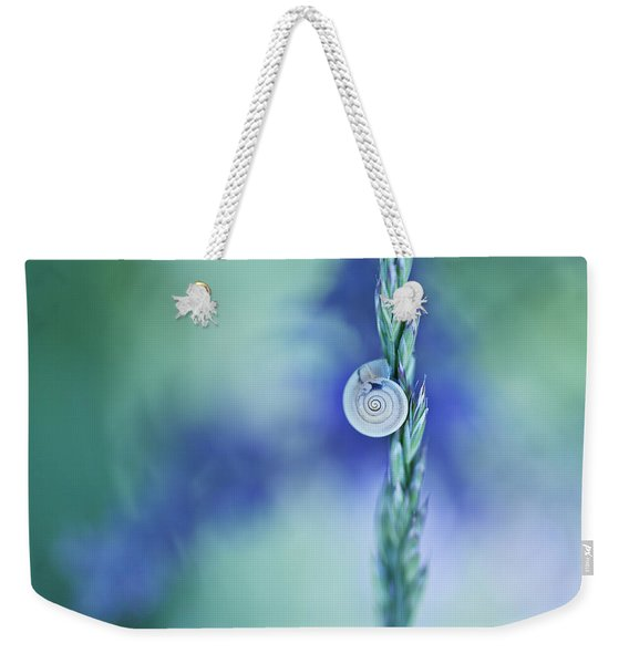 Snail On Grass Weekender Tote Bag
