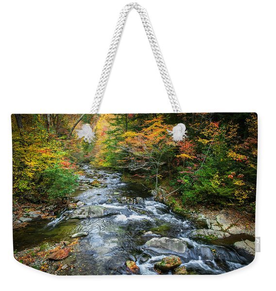 Stream Great Smoky Mountains Painted Weekender Tote Bag