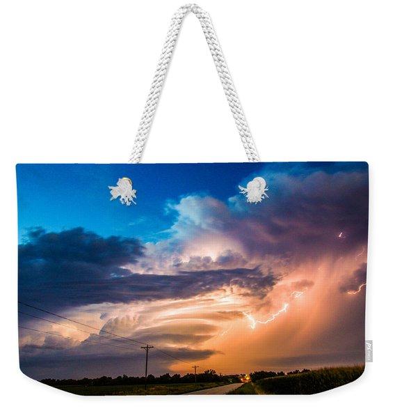 Wicked Good Nebraska Supercell Weekender Tote Bag