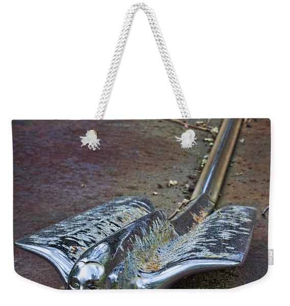 50s Cadillac Hood Ornament #2 Weekender Tote Bag