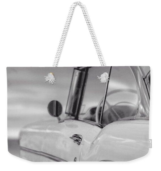 57 Chevy Belair At The Beach Weekender Tote Bag