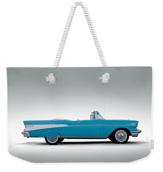 57 Chevy Convertible Weekender Tote Bag