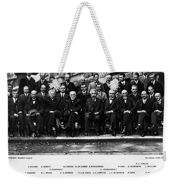 5th Solvay Conference Of 1927 Weekender Tote Bag