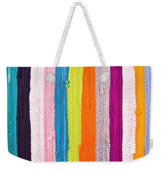 Colorful Textile Weekender Tote Bag