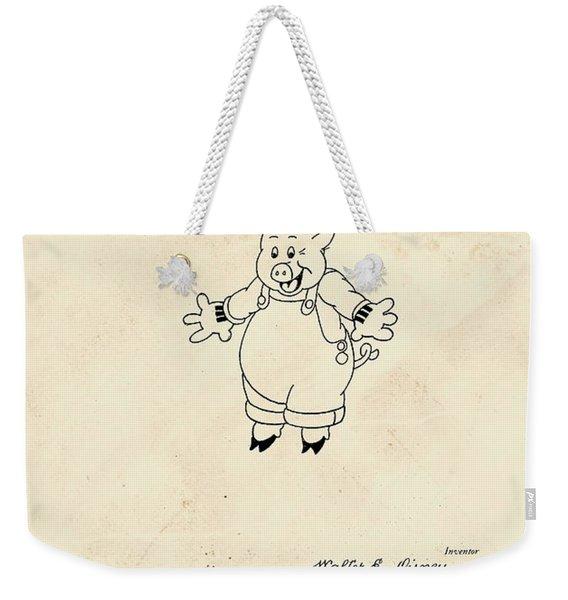 Disney Pig Patent Weekender Tote Bag