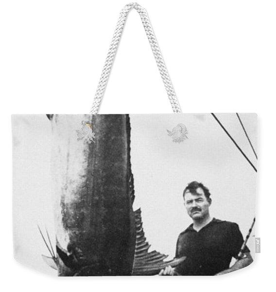 Ernest Hemingway (1899-1961) Weekender Tote Bag