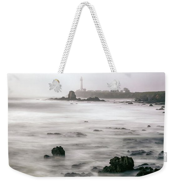 Lighthouse On The Coast, Pigeon Point Weekender Tote Bag