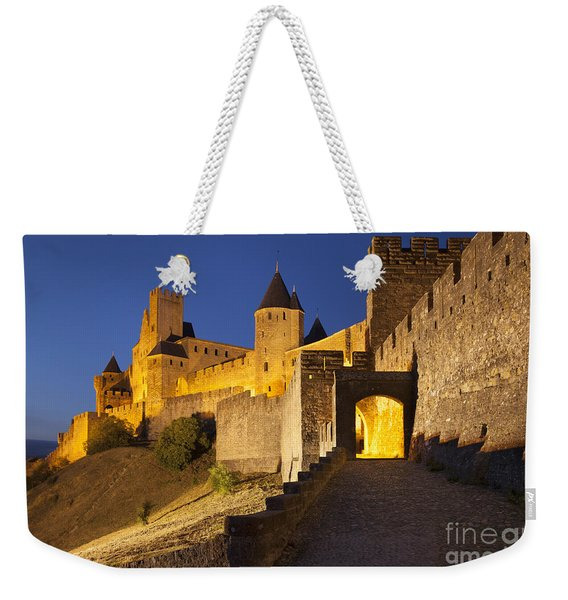 Weekender Tote Bag featuring the photograph Medieval Carcassonne by Brian Jannsen