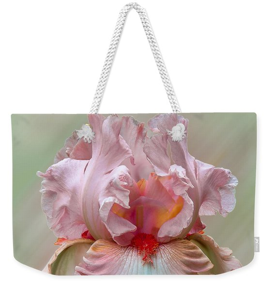 Pink Electrabrite Bearded Iris Weekender Tote Bag