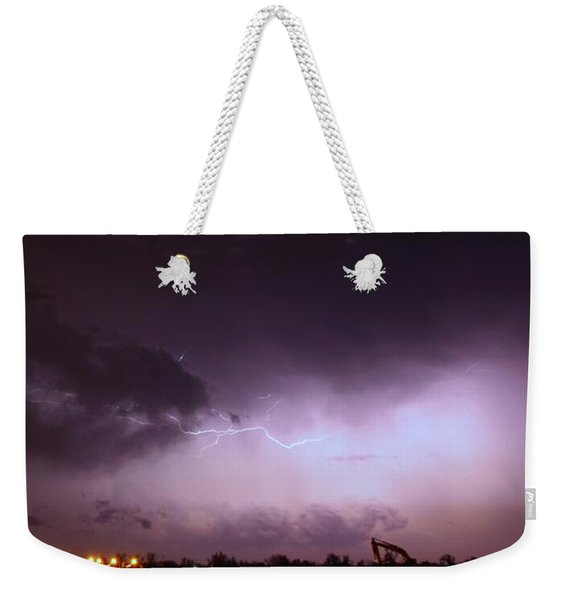 Our 1st Severe Thunderstorms In South Central Nebraska Weekender Tote Bag