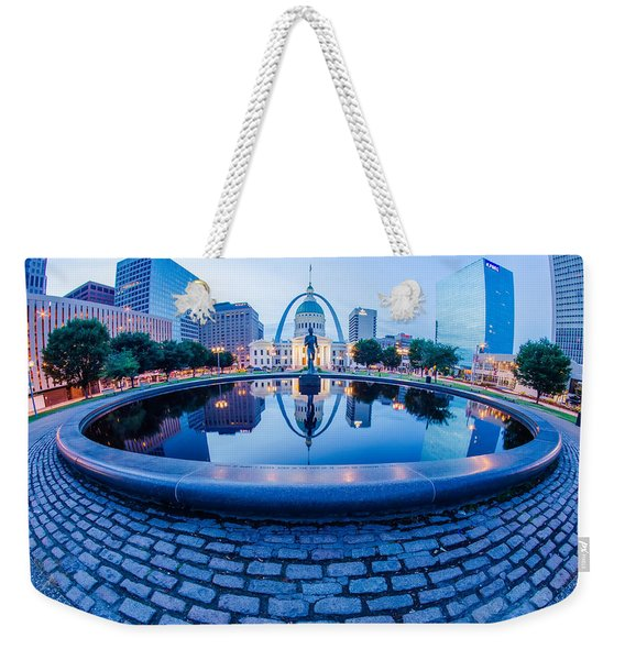 St. Louis Downtown Skyline Buildings At Night Weekender Tote Bag