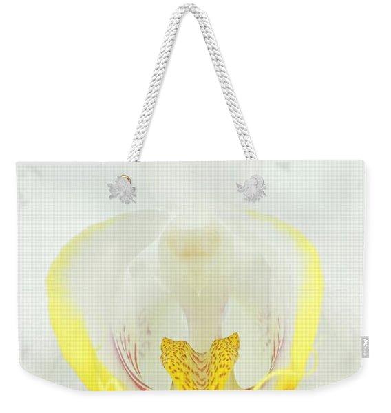 White Orchid-3 Weekender Tote Bag