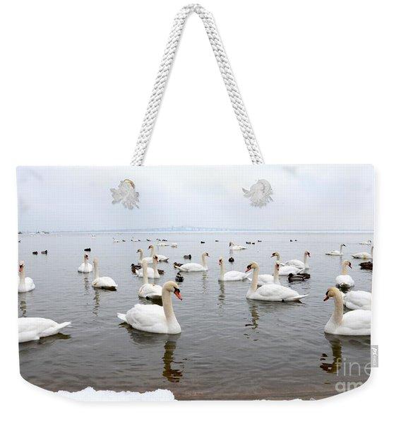 60 Swans A Swimming Weekender Tote Bag