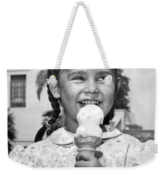 Girl With Ice Cream Cone Weekender Tote Bag