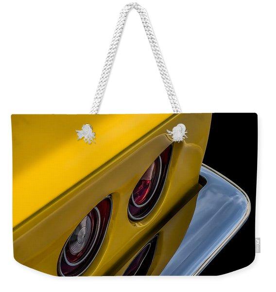 '69 Corvette Tail Lights Weekender Tote Bag