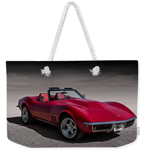 69 Red Stingray Weekender Tote Bag
