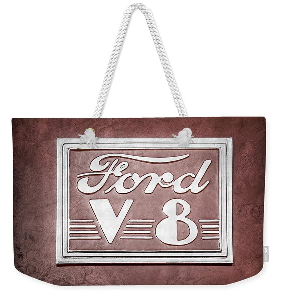 1940 Ford Deluxe Coupe Emblem Weekender Tote Bag