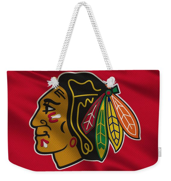 Chicago Blackhawks Uniform Weekender Tote Bag