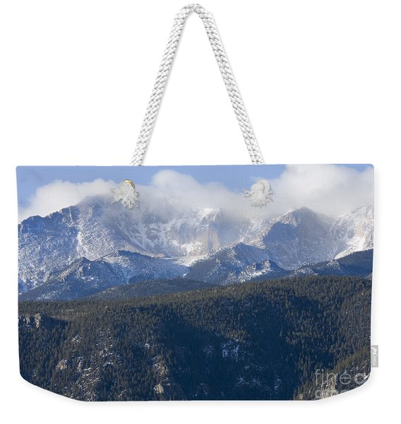 Cloudy Peak Weekender Tote Bag
