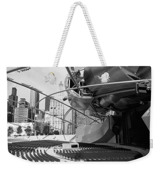 Low Angle View Of Buildings In A City Weekender Tote Bag